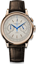 Corniche Watches Mens Chronograph In Rose Gold With Cream Dial