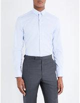 Armani Collezioni Stripe-print Cotton Shirt