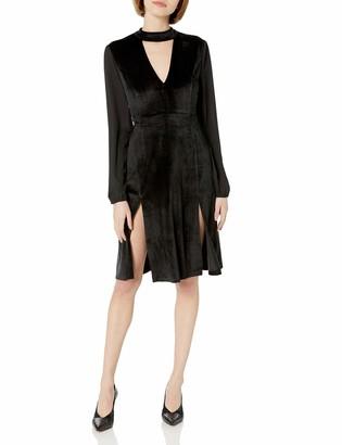 BB Dakota Women's Sherwood Deep V Velvet Midi Dress