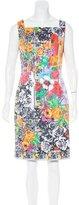 Versace Floral Print Sheath Dress