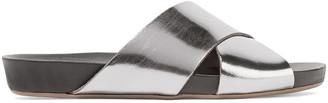 ATP ATELIER Doris Metallic Leather Slides