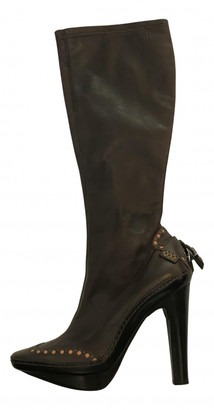 Celine Brown Leather Boots