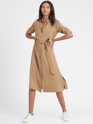 Banana Republic TENCEL Midi Shirt Dress