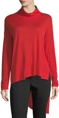 Eileen Fisher High-Low Ultrafine Merino Wool Top