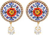 Dolce & Gabbana Majolica crystal-embellished earrings
