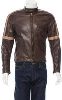 Belstaff Distressed Leather Hero Jacket