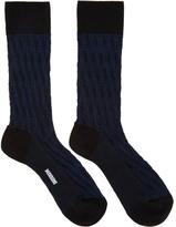 Missoni Blue Cable Knit Print Socks