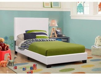 Simple Relax Platform Bed, Twin, White/Black