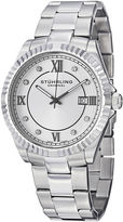Stuhrling Original Sthrling Original Mens Crystal-Accent Stainless Steel Watch 3216.03