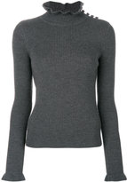 See by Chloe frill trim ribbed jumper