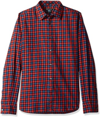 French Connection Men's Brosnan Slim-Cash Check Without Pleats