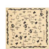 Vivienne Westwood Culture Pocket Square Natural Size H 44cm x W 44cm