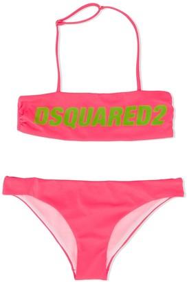 DSQUARED2 TEEN logo print bikini set