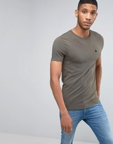 Asos Extreme Muscle T-shirt With Logo In Khaki