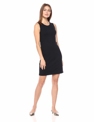 Lark & Ro Women's Sleeveless Crewneck Sheath Dress with Seaming