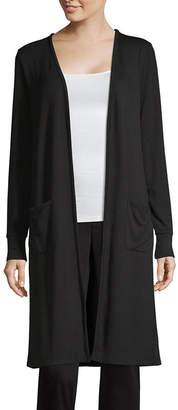 Liz Claiborne Studio Womens Long Sleeve Open Front Cardigan