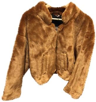 Free People Orange Faux fur Jacket for Women