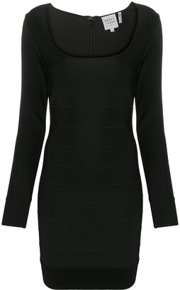 Herve Leger Icon square neck dress