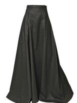 Gareth Pugh Light Waxed Cotton Long Skirt