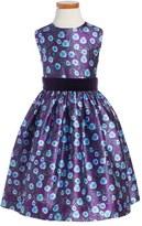 Oscar de la Renta 'Petite Roses' Mikado Party Dress (Little Girls & Big Girls)