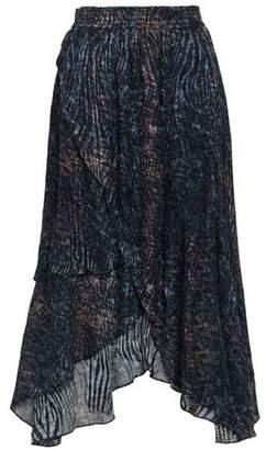 IRO Elook Wrap-effect Devore-chiffon Midi Skirt