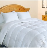 Blue Ridge Tuxedo Damask Stripe Oversize King White Down Comforter