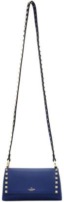 Valentino Blue Garavani Small Rockstud Shoulder Bag
