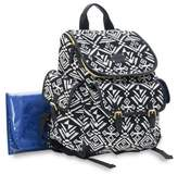 Carter's Baby Go Aztec Backpack Diaper Bag in Black/White