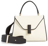 Valextra Mini Iside Colorblock Leather Top Handle Bag