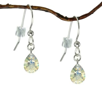 Handmade Jewelry by Dawn Crystal Small Pear Sterling Silver Earrings