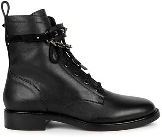 Valentino Rockstud leather biker boots