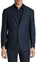 Corneliani Wool Checkered Notch Lapel Sportcoat