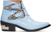 Toga Pulla Blue Double-buckle Boots