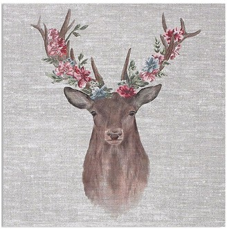 Graham & Brown Watercolour Floral Stag Canvas