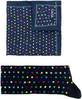 fe-fe polka dot socks and pocket square set
