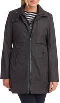 Andrew Marc Wool Zipper Overcoat