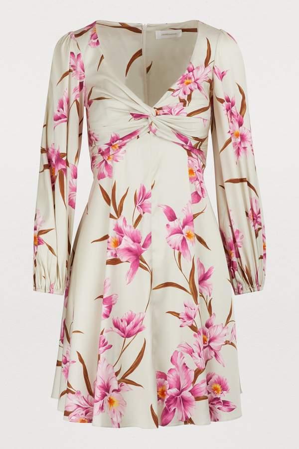 Zimmermann Corsage silk mini dress