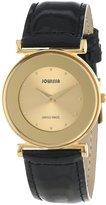 Jowissa Women's J3.023.M Elegance 30mm PVD Black Leather Watch
