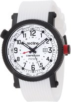 Redline Men's Boost Dual Time Black Dial Black Silicone