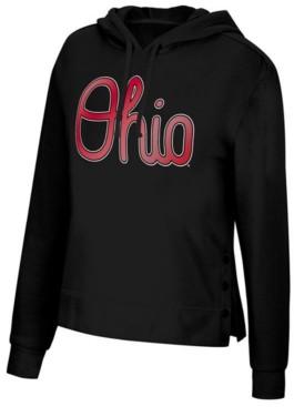 Top of the World Women's Ohio State Buckeyes Snap Hem Hooded Sweatshirt