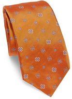 Kiton Jacquard Flower Silk Tie