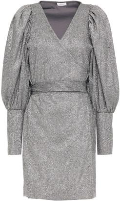 Rhode Resort Frankie Gathered Lame Mini Wrap Dress