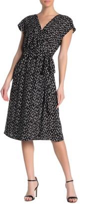Velvet by Graham & Spencer Surplice Neck Cap Sleeve Dress