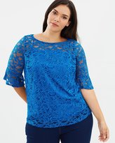 Flutter Sleeve Lace Tee