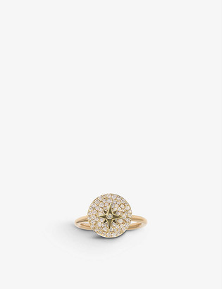 THE ALKEMISTRY Noush 14ct yellow-gold and diamond pavé ring