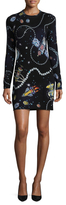 Love Moschino Rockets & Jewels Wool Sweater Dress