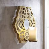 Pier 1 Imports Gold Flower Pillar Candle Wall Sconce