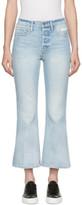 Frame Blue Rigid Re-release le Crop Flare Jeans