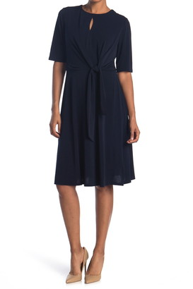London Times Keyhole Side Tie Dress