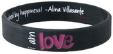 Peace Love World I am Love Black Kids Classic Silicone Bracelet